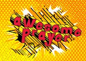 Awesome Prayer - Comic Book Word On Abstract Background. poster