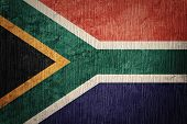 Grunge South Africa Flag. South Africa Flag With Grunge Texture. poster