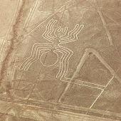 Spider Geoglyph, Nazca Mysterious Lines And Geoglyphs Aerial View, Landmark In Peru poster