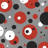 foto of stippling  - A truly hip and funky retro design circles of red white and black on a gray  - JPG