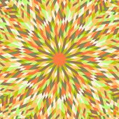 Colorful Dynamic Burst Mosaic Pattern Background Design - Abstract Psychedelic Hypnotic Circular Vec poster
