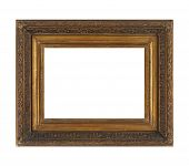 Isolated Photo Frame, Golden Antique Photo Frame, Vintage Frame.isolated Photo Frame, Golden Antique poster