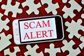Fraud Alert-a Message On The Smartphone Screen. Fraud Is The Theft Or Acquisition Of The Right To So poster
