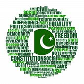 Word Cloud With Words Related To Politics, Government, Parliamentary Democracy And Political Life. F poster