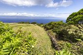 Beautiful View Of Sao Jorge Island From Pastures On Pico Island In The Azores, Portugal. poster