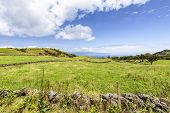 Empty Pastures On The Island Of Pico In The Azores, Portugal. poster