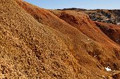 Natural Red Mountains In Kyzyl-chin Valley, Also Called As Mars Valley. Altai, Siberia, Russia poster