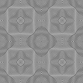 Seamless Vector Pattern With Wavy Stripe. 3d. Modern Texture With Wavy Black Lines. Design Wallpaper poster