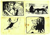 foto of short-story  - Comic figure cartoon ink - JPG