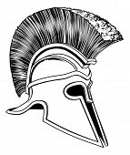 pic of hoplite  - Graphic of a bronze Trojan Helmet Spartan helmet Roman helmet or Greek helmet - JPG