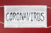 Novel Coronavirus - 2019-ncov, Wuhan Virus Concept. Surgical Mask Protective Mask With Coronavirus T poster
