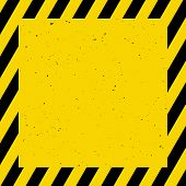 Black And Yellow Background; Warning, Caution, Vector Illustration poster