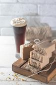 Organic Handmade Soap. Handmade Soap Bars With Beer . Organic Soap. Spa Treatments. poster