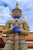 Demon Guardian At Wat Phra Kaew, Temple Of The Emerald Buddha, Bangkok, Thailand