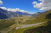 stock photo of hooker  - Hooker Valley on the South Island of New Zealand - JPG