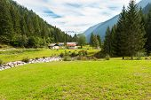 stock photo of genova  - Mountain valley in Genova valley Natural Park Adamello Brenta - JPG