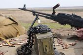 pic of battlefield  - PK machine gun on a battlefield - JPG