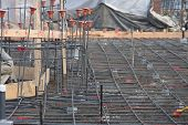 Rebar On The Construction Site poster