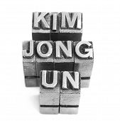 foto of lithographic  - KIM JONG UN  sign - JPG
