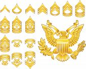 american army enlisted rank insignia icons