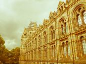 picture of kensington  - Vintage look The Natural History Museum on Exhibition Road South Kensington London England UK - JPG