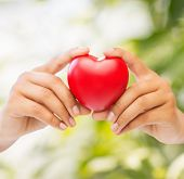 stock photo of beating-heart  - health and charity concept  - JPG