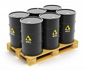 stock photo of pallet  - Oil and gas industry business concept - JPG