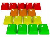 Happy new year 2014 - pc keys