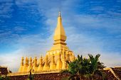 Pha That Luang(Temple) or Great Stupa in Vientiane, Symbol of Laos.