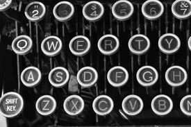 stock photo of qwerty  - Antique Typewriter  - JPG