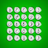 stock photo of arabic numerals  - Arabic alphabet  typography design for all kind use - JPG