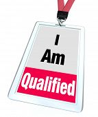 pic of credential  - I am Qualified Badge Licensed Certified Professional - JPG