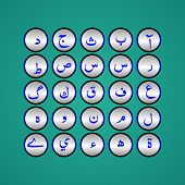 stock photo of arabic numerals  - Arabic typography design for all kinds of use - JPG