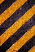pic of hazard  - Black and yellow caution warning hazard stripes patten background - JPG