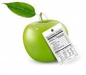 foto of trans  - An apple with a nutrition facts label - JPG