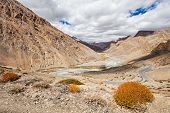 picture of manali-leh road  - Himalayas landscape road between Manali and Leh India - JPG