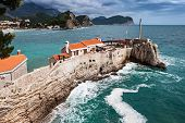picture of yugoslavia  - Fort on the island in Petrovac Montenegro - JPG