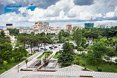 pic of albania  - Panorama view to the city Tirana Albania - JPG