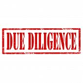 stock photo of diligent  - Grunge rubber stamp with text Due Diligence - JPG