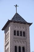stock photo of neo  - Tower of the Church of Sant Pere Martir in Escaldes - JPG