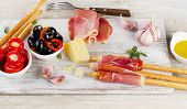 image of antipasto  - italian appetizer  - JPG