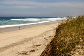 stock photo of vilamoura  - Beach on Atlantic Ocean Coast in near Furadouro Portugal - JPG