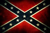 stock photo of confederate flag  - Closeup of grungy Confederate flag - JPG