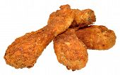 stock photo of southern fried chicken  - Spicy Southern fried chicken drumsticks - JPG