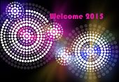 stock photo of aborigines  - A illustration based on aboriginal style of dot painting depicting New Year Eve - JPG
