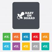 picture of nipple  - Baby on board sign icon - JPG