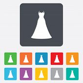 picture of fiance  - Woman dress sign icon - JPG