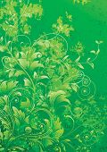 image of green leaves  - Green floral grunge textured background - JPG