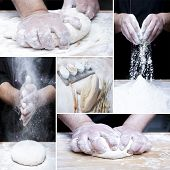 Постер, плакат: Making Bread Collage