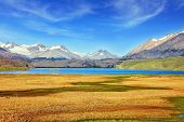 image of snow capped mountains  -  National Park Perito Moreno  in Patagonia - JPG